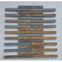 Wholesale China Rusty Slate Stone Mosaic Tile Natural Mosaic Pattern Multicolor Slate Mosaic Wall Tiles from china suppliers