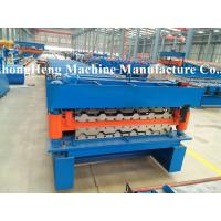 Wholesale Double-corrugated Sheet Roofing Sheet Roll Forming Machine with protective cover from china suppliers