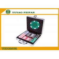 Quality 100pcs ABS Poker Chips / Gameland Poker Chips Set With Aluminum Metal Case for sale