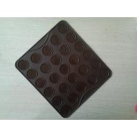 Quality Chocolate Non Stick Silicone Heat Resistant Mats / 30Holes Heat Proof Oven Mats for sale