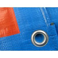 Wholesale 180gsm blue/orange PE tarpaulin sheet with eyelets and pp rope reinforced from china suppliers