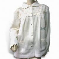 Wholesale Ladies Bed Jacket, Made of 250gsm Microfleece Plain Fabric, Various Colors are Available from china suppliers