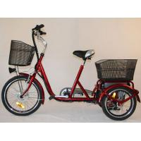 Wholesale Front Basket Adult Electric Tricycles Rear Cargo , 3 Wheel Electric Bicycle from china suppliers