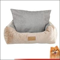 Wholesale pet bedding Stripes short plush pp cotton pet bed china factory from china suppliers