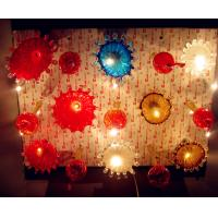 Buy cheap Handblown glass flower ceiling lamps for sale , China manufacturer from wholesalers
