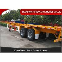 Wholesale Capacity Optional Chassis Container Trailer Carbon Steel Material Two Axle from china suppliers