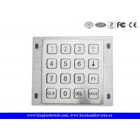 Wholesale Rugged Panel Mount Kiosk 4 4 Metal Keypad 16 Flat Keys With Pin Connector from china suppliers