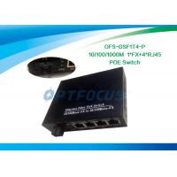 Wholesale 1310nm Managed Power Over Ethernet POE 20KM / Single Mode Fiber Switch 8 Port Poe Gigabit from china suppliers