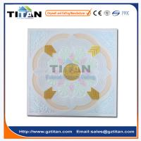 Quality Embossed Hand-Painted Grg Colored Gypsum Ceiling Tiles for sale