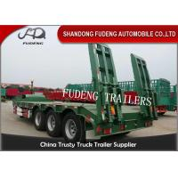 Wholesale 3 Axle 60 Ton Gooseneck Low Bed Semi Trailer With Ladder For Construction Machinery Transportation from china suppliers