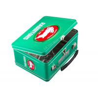 Wholesale Rabbitohs Metal Tin Lunch Boxes Hinged Tin Box With Handle Key And Lock from china suppliers