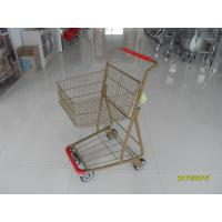 Wholesale Supermarket 40 L Singel Basket Metal Shopping Cart With Wheels And Front Bumper from china suppliers