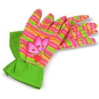 Wholesale Pretty Cotton drill with PVC impregnated palm child`s garden glove for Household work from china suppliers