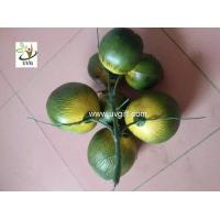Wholesale UVG PTR045 high simulation plastic artificial coconut for palm tree decoration from china suppliers