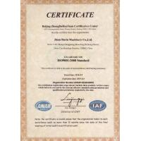 Jinan Darin Machinery Co., Ltd. Certifications