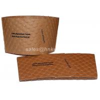 Wholesale Kraft Paper Coffee Cup Sleeves Custom Print For Coffee Cups Flexo Print from china suppliers