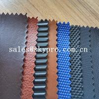 Wholesale 100% PU Synthetic Leather With Colorful Printed Fabric PVC Solid Colors Synthetic Leather from china suppliers