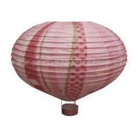 Wholesale Hot - air Balloon Unique Shaped Paper Lantern With Luminous Customized Printing from china suppliers