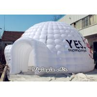 Buy cheap 8m White Inflatable Dome Tent with Two Doors for Party, Wedding and Trade Show from wholesalers