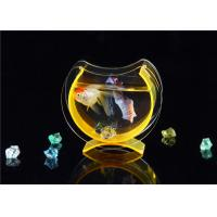 Wholesale Small Acrylic Fish Tank / Desktop Fish Bowl With Cololful Stones from china suppliers