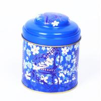 Wholesale D84 X 80mm English Tea Tin Box Cheap Round Metal Tea Box Customized Color from china suppliers