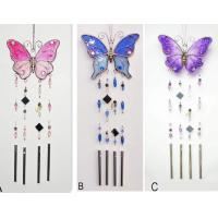 Wholesale Butterfly shape wind chimes spinner Decorative Garden Stakes for gardening decor from china suppliers