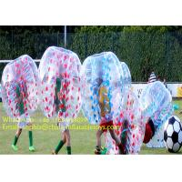 Quality Colorful Dots 1.5m 1.0mm PVC Inflatable Zorb Football Bubble Soccer Ball With CE Pump for sale
