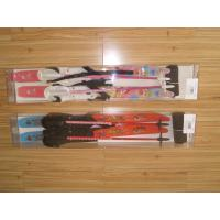 Quality Crosscountry ski sets with rubber plastic ski bindings, ski poles for sale