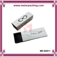 Wholesale Sliding pull out paper packaging box, white cardboard paper sunglass box ME-SG011 from china suppliers
