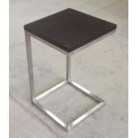 Wholesale solid wood top stainless steel metal side table/End table/coffee table for hotel furniture TA-0080 from china suppliers