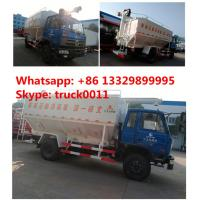 Wholesale dongfeng 153 RHD 20m3 electronic system discharging animal feed delivery truck, dongfeng brand 4*2 RHD 10tons feed truck from china suppliers