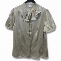 China Women's Shirt with 100% Silk, Embroidery in to Fly, 7 Sizes Available on sale