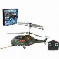 Wholesale 3.5-channel I/R Battle Helicopter with Gyro, Made of ABS and Nylon Material, 6-minute Flying Time from china suppliers