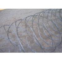 Wholesale Coated Concertina Barbed Wire , 100 - 1000m Coil Length Security Fencing Wire from china suppliers