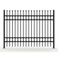 Wholesale Tubular Steel Fence panels @1800m x 2100m spear crimped stain balck Powder Ral 9001 Garrison Security Fence panels from china suppliers