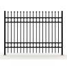 Buy cheap Black Powder Coated Tubular Fence / Steel Fence / Wrought Iron Fence from wholesalers