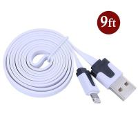 Wholesale Dual Color Noodle USB Cable Sync Flat Data Charger Cable for iPhone 2G3G4G4S iPad white from china suppliers