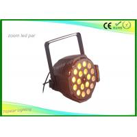 Wholesale Disco Lights Par Can 18 x 15w Rgbwa 5 In 1 LED Par Light 64 With Zoom Function from china suppliers