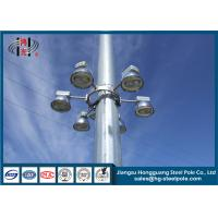 Wholesale Q345 30m High Mast Floodlight Poles for Square / Airport Lighting from china suppliers