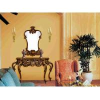 Wholesale Villa Bedroom Furniture Antique Solid Wood Makeup Table And Mirror from china suppliers