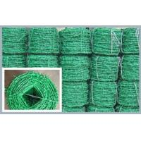 Wholesale Green Plastic PVC Coated Barbed Wire Roll Single Strand , Soft Bending Wire from china suppliers