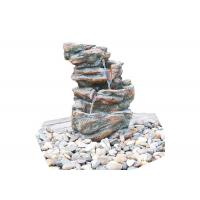 Wholesale Customized Size Outdoor Stone Fountains , Rock Garden Fountain In Grey Color from china suppliers