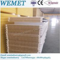 Quality Rock wool fire proof insulated wall panel for steel warehouse width 1000mm for sale