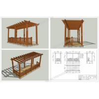 Quality wood plastic composites Patio pergola veranda designs 16.4ft.*8.2ft.*9.35ft.(OLDA-5200A) for sale