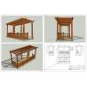 Buy cheap wood plastic composites Patio pergola veranda designs 16.4ft.*8.2ft.*9.35ft.(OLDA-5200A) from wholesalers