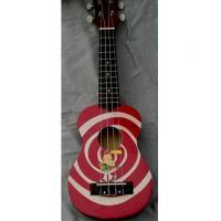 Wholesale Red / Yellow Rosewood Bridge 21 inch Hawaii Guitar Ukulele Lollipop Shape from china suppliers