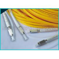 Quality 2.0mm Duplex Zip Cord D4 Connector SM Yellow Fiber Optic Patch Cable for sale