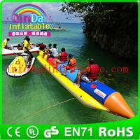 Wholesale QinDa Customized Inflatable Banana Boat / Inflatable water game from china suppliers