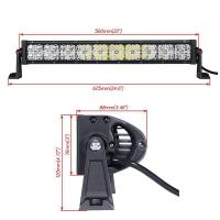 Quality 4 X 4 4WD 21.5 Inch Car Light Bar With Cross DRL120W 40 LEDs 7D Lens for sale