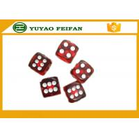Wholesale Standard Casino 12mm Transparent Red Custom Dice Sets With White Dot from china suppliers